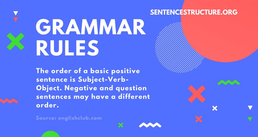 grammar rules sentence structure