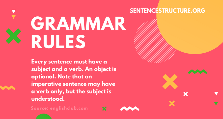 grammar rules subject and a verb