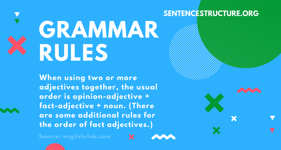 grammar rules about two adjectives