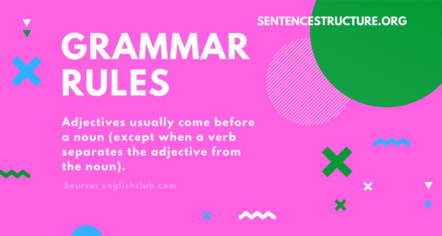 grammar rules adjectives