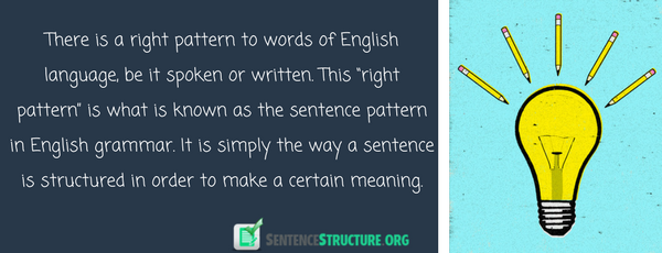 sentence pattern in english grammar