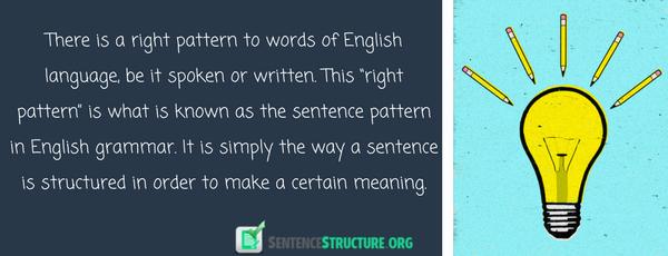 sentence pattern in english grammar
